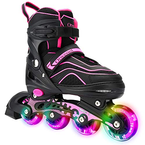 Otw-Cool Adjustable Inline Skates for Kids and Adults,...