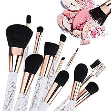Make Up Brushes,B-Artisan New Arrived High Quality 12 Pieces Professional Marble Makeup