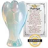 Earth Therapy Guardian Angel Figurines with Serenity Prayer - Perfect As A Worry Stone and Healing Stones