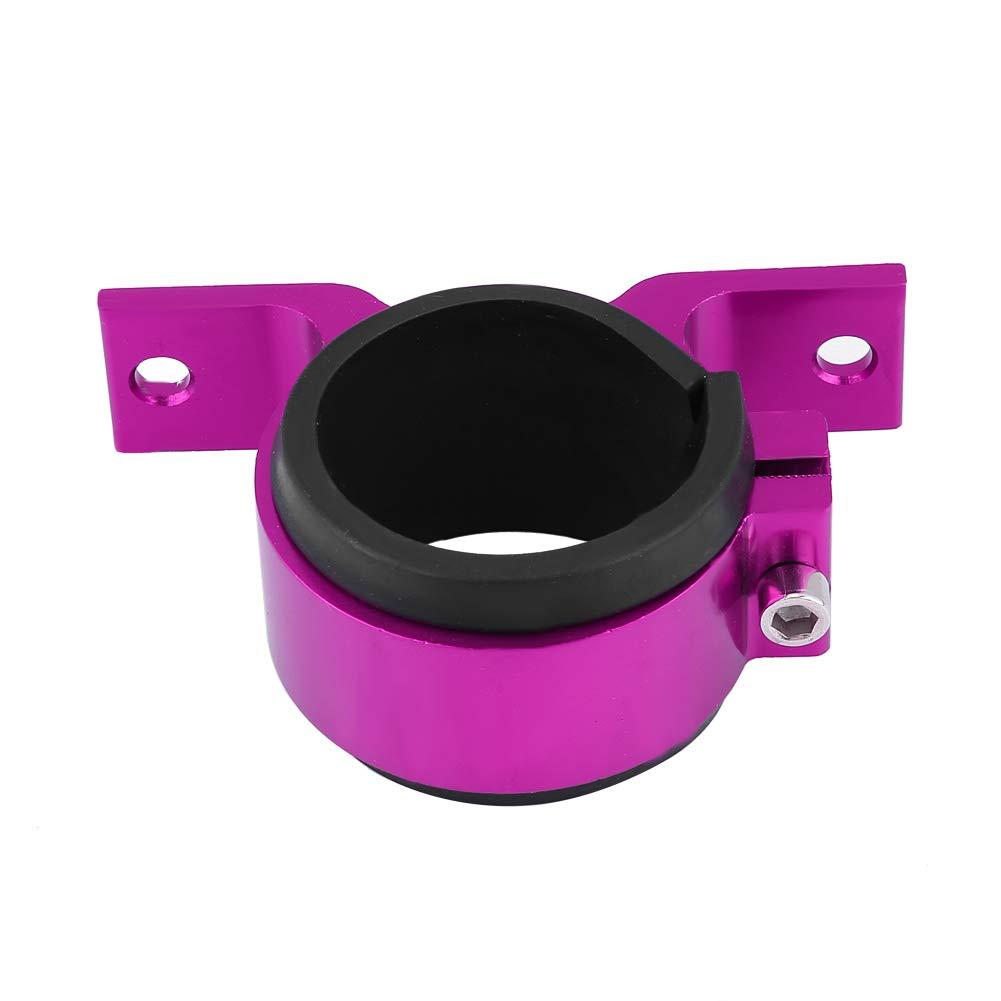 KIMISS Aluminum Alloy 50mm Car Fuel Pump Mounting Bracket Single Filter Clamp Cradle Purple