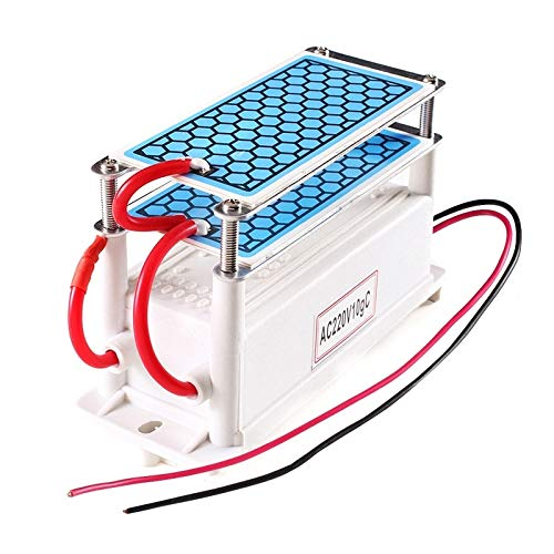 Songlin@yuan High Temperature Ceramic Plate Integrated Ozone Generator, 220V, 10g, Portable air Purifier, Size: 14.6 5.5 9cm。
