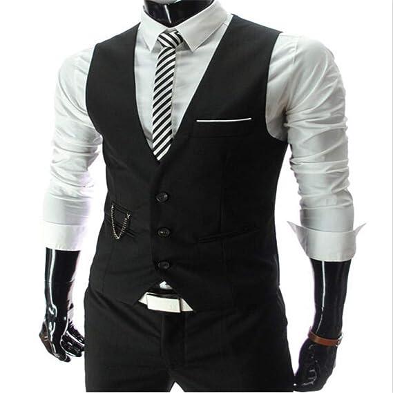 Chalecos de Vestir para Hombres Slim Fit Traje para Hombre ...