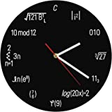 The Geeky Days Math Formula Wall Clock Geek Equation Nerdy Contemporary Wall Clock Black Round Time Clock Home Decor…