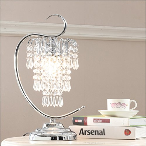 Edge To Table Lamp Crystal Table Lamp Beautiful Bedroom Bedside Wedding Table Lamp Pastoral European Luxury Decorative Table Lamp by Edge To (Image #1)