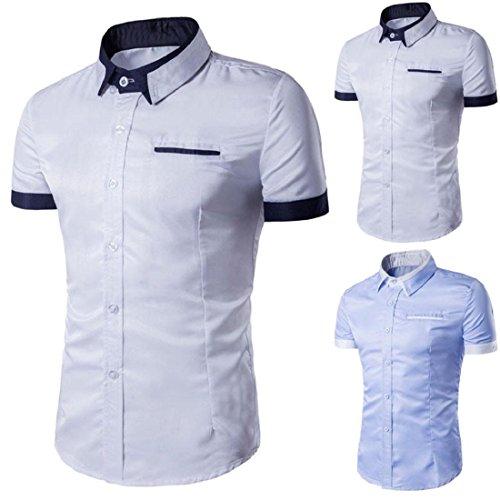 Orangeskycn Mens Summer Polo Shirts T-Shirt Short Sleeve Shirt Slim Fit Formal Shirts Tops Green