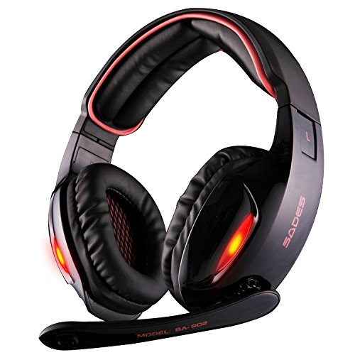 Sades-SA902-71-Channel-Virtual-USB-Surround-Stereo-Wired-PC-Gaming-Headset-Over-Ear-Headphones-with-Mic-Revolution-Volume-Control-Noise-Canceling-LED-Light-BlackRed