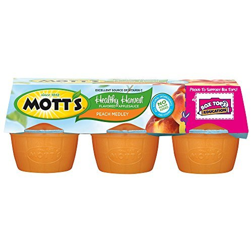 Mott's Healthy Harvest Peach Medley Applesauce, 3.9 oz cups (Pack of 72) by -