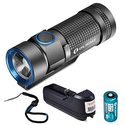 Rechargeable Bundle - Olight S1 500 Lumen Compact EDC LED Flashlight with Olight Rechargeable Battery and Lumentac Charger