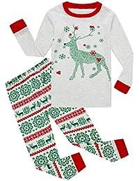 Little Boys Girls' Red Stripe Christmas Pjs Cotton Pajama Sets