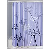 InterDesign Thistle Shower Curtain, Standard - Purple and Gray