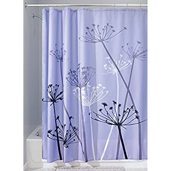 purple and grey shower curtain. InterDesign Thistle Shower Curtain  Standard Purple and Gray Amazon com