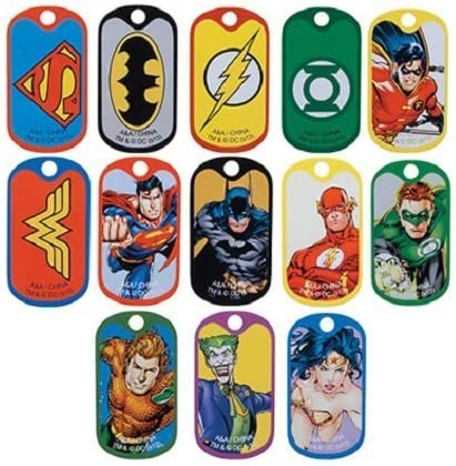 DC Comic Super Hero Dog Tags 2 Dozen