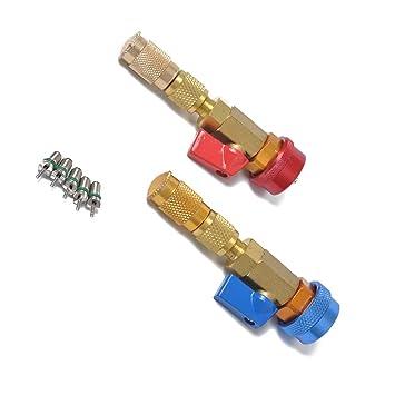 Republe Instalación automática de automóviles Aire Acondicionado Aluminio R134A Bobina de liberación rápida Herramienta de núcleo de la válvula R134 +: ...