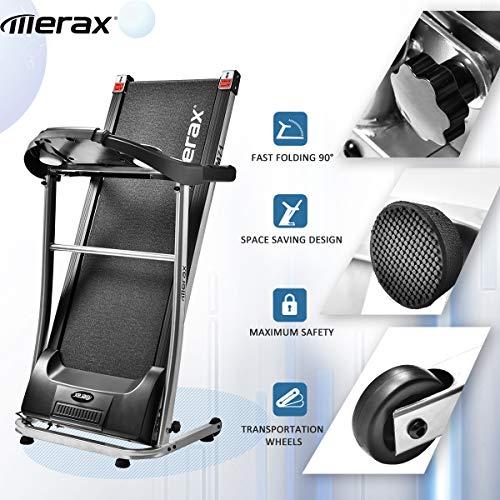 Merax Treadmill Easy Assembly Folding Electric Treadmill Motorized Running Machine by Merax (Image #5)