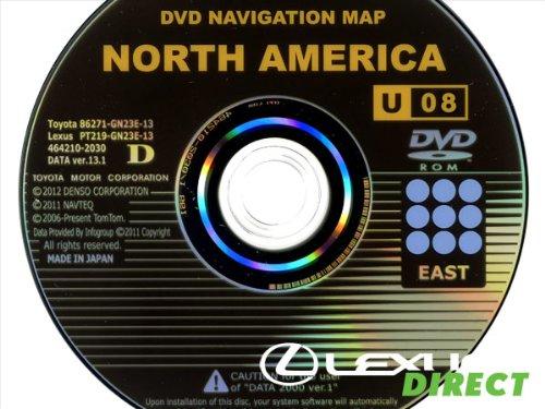 New Genuine OEM Generation 2/3 Lexus Navigation Update DVD, (13.1) U08, East (Lexus Dvd)
