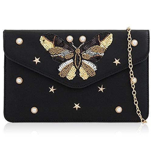 pour Style 2 London Pochette femme Xardi Black g8wqRE