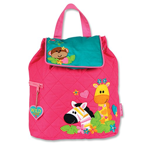Stephen Joseph Quilted Backpack, Girl Zoo