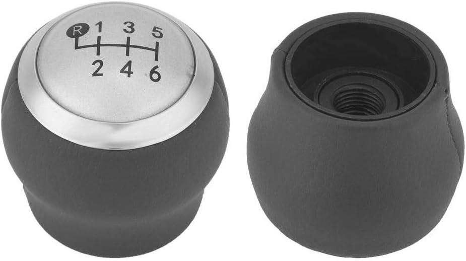 Type C 6 Speed Yctze Car Gear Shift Knob Head,ABS+PU Modification Gear Stick Shift Knob Head for Auris