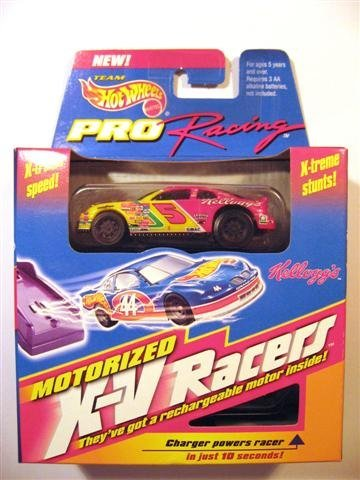 Hot Wheels Mattel Motorized X-V Racers Nascar Pro Racing Team STP #5 Car. X-treme Speed & Stunts. Compatible With Sizzlers And Charge Ups Race Tracks. (Xv Racer)