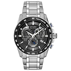 Atomic Timekeeping: The Most Accurate Watch in the WorldEco-drive technologyNever needs a batteryCharges in natural or artificial light1 Second Chronograph Measures up to 60 MinutesPerpetual CalendarRadio Controlled in 5 Time ZonesAlarmAM/PM ...