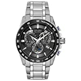 WATCH men Amazon, модель Citizen Men's Eco-Drive Titanium Perpetual Chrono Atomic Timekeeping Watch with Date, AT4010-50E, артикул B005BS2ENC