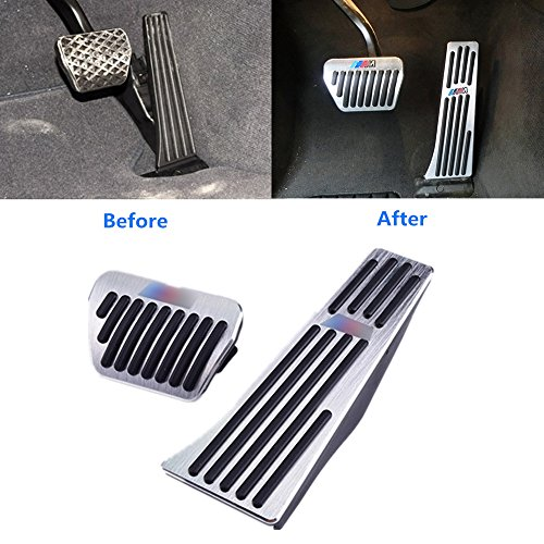 Bmw X3 Interior (For BMW No Drill Gas Brake Pedal, Jaronx Anti-slip ///M Aluminium Alloy AT Accelerator Brake Pedal Cover (Fits: BMW 1 2 3 4 5 X1 X5 X6 Series) (Gas+Brake Pedals))