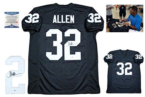 Marcus Allen Autographed Jersey - Beckett w Photo Black - Beckett Authentication - Autographed NFL Jerseys