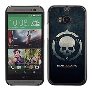 MOBMART Carcasa Funda Case Cover Armor Shell PARA HTC One M8 - The Skull Symbol Of Death