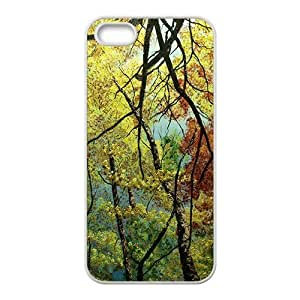 Beautiful nature forest tree Phone Case for iPhone 5S(TPU)