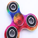 DKmagic 2017 New Rainbow Tri-Spinner Fidget Decompression Gyro - Perfect For ADD, ADHD, Anxiety, and Autism Adult Children (Multicolor B)