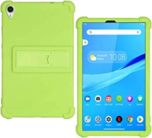 HminSen Case for Lenovo Tab M8 FHD TB-8705F TB-8705N Kids Friendly Soft Silicone Adjustable Stand Cover for Lenovo Tab M8 HD TB-8505F TB-8505X TB-8505I Tablet Cases (Green)
