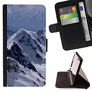 For Samsung Galaxy A5 A5000 A5009 The Mountains Snowy Alps Style PU Leather Case Wallet Flip Stand Flap Closure Cover