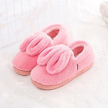 LaxBa Winter warme Hausschuhe, Winter Home Plüsch Hausschuhe, Winter warme Rutschfeste Schuhe Hausschuhe Das Wort rosa 40-41 (für 39-40 in der Regel)