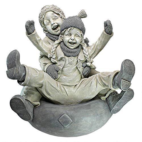 Design Toscano Down Hill Tubing Children Statue