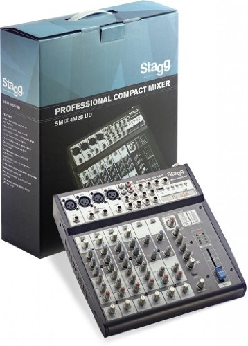 Stagg SMIX 4M2S US Professional Compact Mixer by Stagg