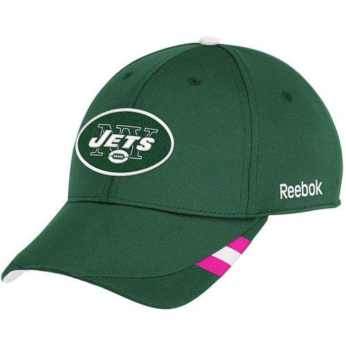Reebok New York Jets Breast Cancer Awareness Coaches Structured Adjustable Hat Adjustable ()