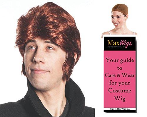 Handsome Hans Color Auburn - Enigma Wigs Freeze Prince Bundle w/Cap, MaxWigs Costume Wig Care Guide