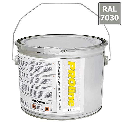 PROLINE-PAINT Antirutsch-Hallenmarkierfarbe PROline-paint, rutschhemmend, steingrau, 5 l