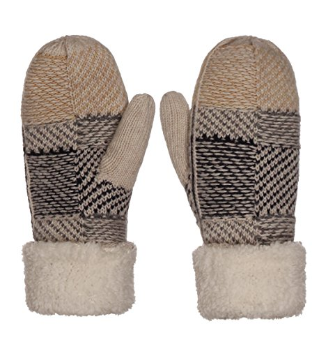 Emmalise Women's Mitten Knit Gloves Ivory