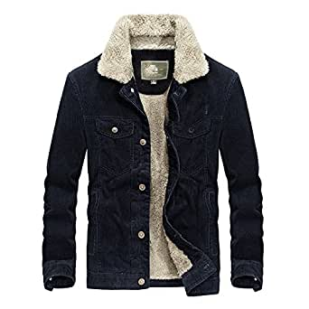 Amazon.com: Naomiky Warm Winter New Stand-Collar Corduroy