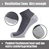 COOVAN 10 Pairs Mens Cushion Ankle Socks Men 10