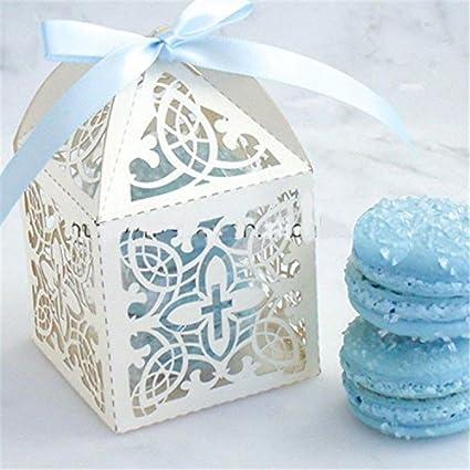 Turnon 50pcs 6x6x95cm Baby Birth Souvenirs Shower Decorations Birthday Return Gift Kids Laser
