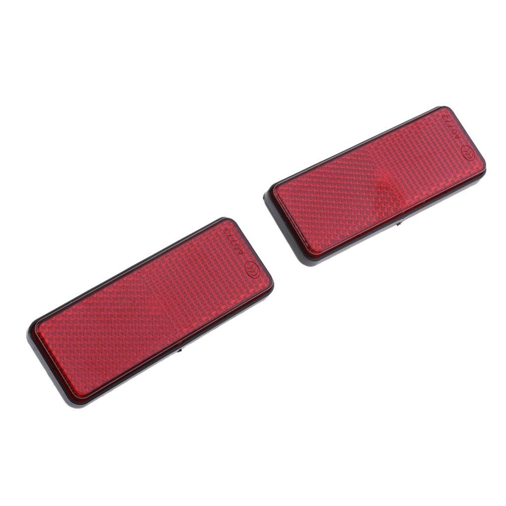Sharplace 2 Pezzi Catarifrangente Moto Forma Rettangolo Accessorio Universale Plastica