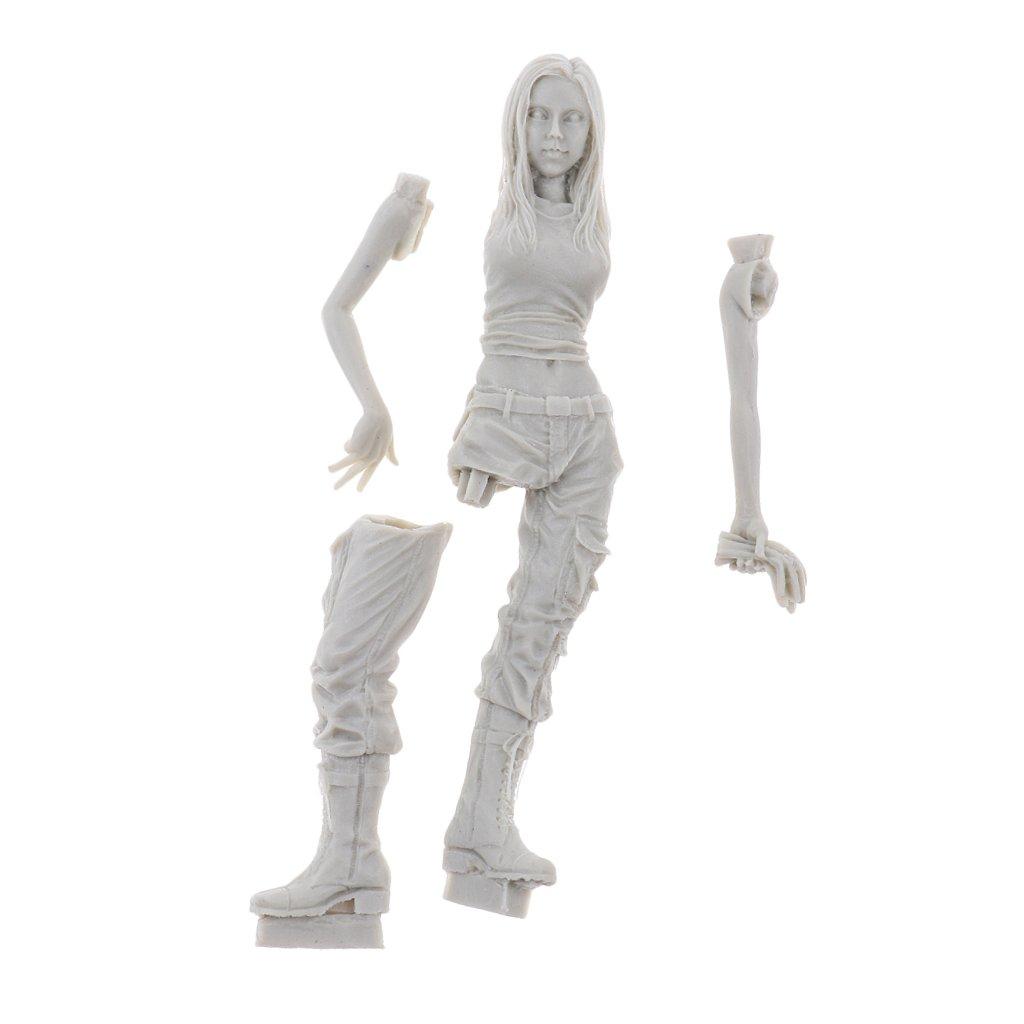 Modellbausatz Zubehör, 1:20 Harz DIY Mädchen Modellbau Figur Skulptur