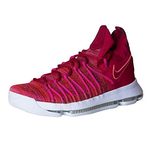 Nike Mens Zoom Kd9 Elite Scarpa Da Basket Rossa / Viola