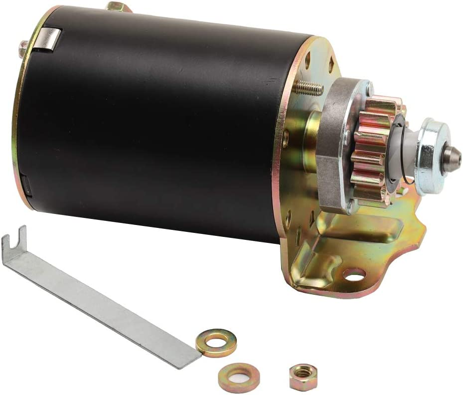 ADP Starter Compatible With Briggs and Stratton Cub Cadet 14.5 16 16.5 17 17.5 18 18.5 HP John Deere New Holland Toro 14 Tooth Steel Gear 593934 693551 LG693551 BS693551 SE501848