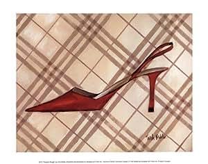 Poussoir Rouge PREMIUM GRADE Rolled CANVAS Art Print Trish Biddle 12x10