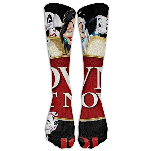 101 Dogs Dalmations Unisex Tube Sock Cool Crew Fashion Novelty Knee High Socks