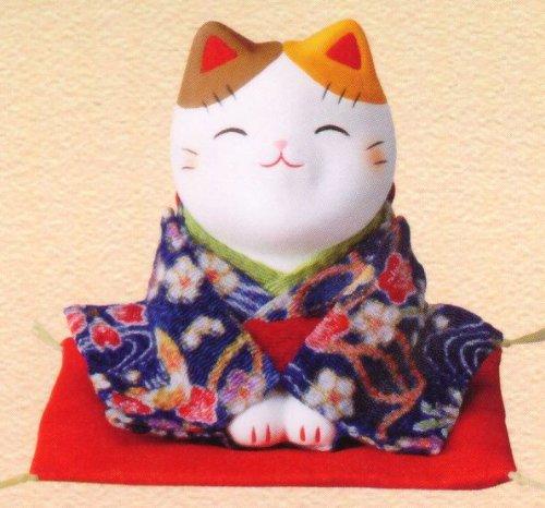 NishikiAya crepe beckoning cat ( bow )