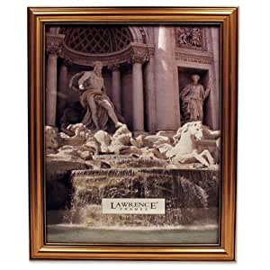 Lawrence frames Antique Gold Wood 8x10 Picture Frame - Classic Design